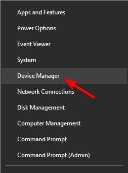 Administrador de dispositivos de Windows