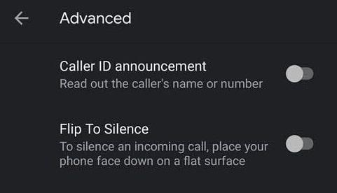 Google phone app caller ID announcement