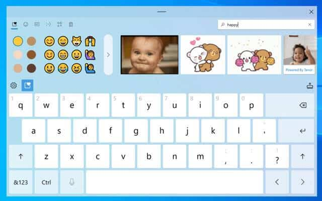 Windows 10 Touch Keyboard Gets GIF Support, Emoji Search and Better Voice Typing