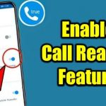 Enable call reason feature on truecaller