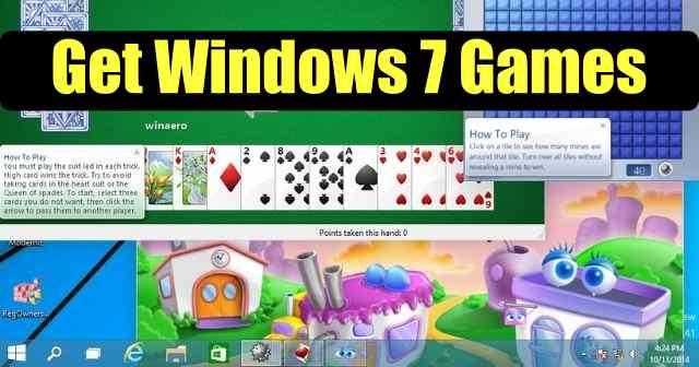 Descargar juegos de Windows 7 para Windows 10