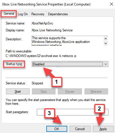 Disable Xbox Live Networking Service