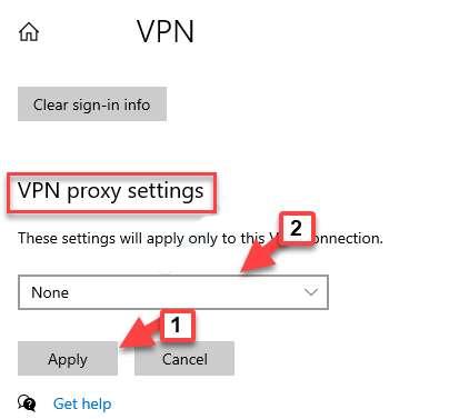 VPN Proxy settings