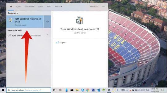 Activar función de Windows