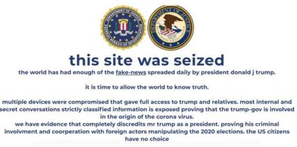 Trump website got hacked