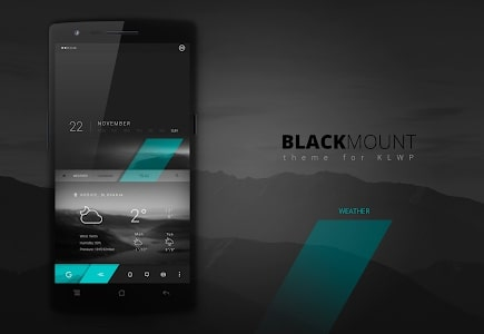 Black Mount KLWP Theme