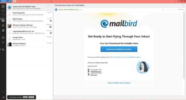Mailbird email software