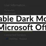 MS Office Dark Mode