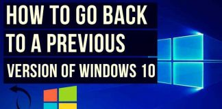 Roll Back to Earlier Version of Windows 10