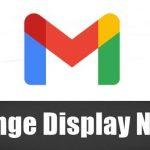 Change Your Display Name on Gmail