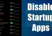 Disable Startup Apps