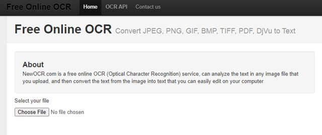 New OCR - Free Online OCR