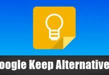 Google Keep Alternatives
