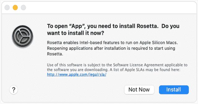 Permissions for Installing Rosetta