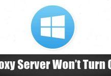 Proxy Server Won't Turn Off
