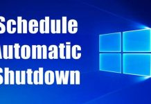 Schedule Automatic Shutdown