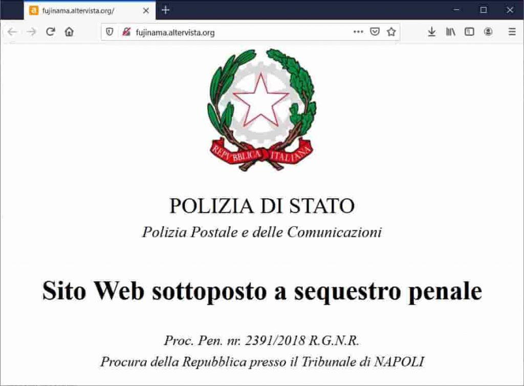 Seized domain