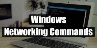 Windows Networking commands