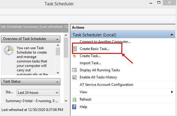 Use Task Scheduler to Schedule Shutdown