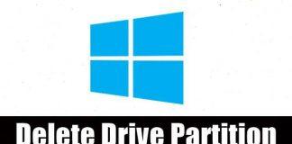 Delete a Drive Partition