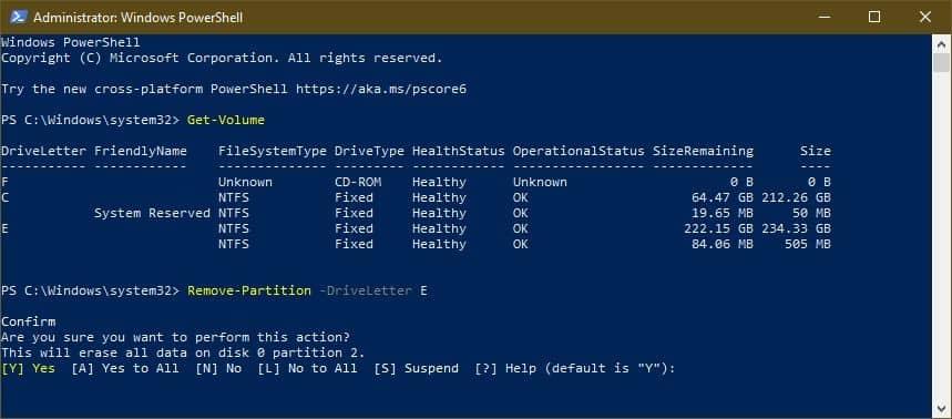 Delete a Drive Partition in Windows 10