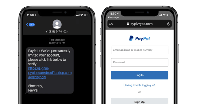 PayPal Smishing Campaign Spotted Stealing Login Credentials and PII
