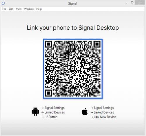 Código QR, que debe ser escaneado por su señal