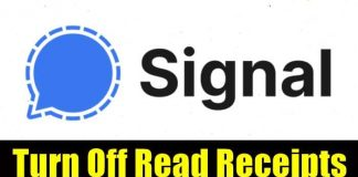 Turn Off Read Receipts in Signal