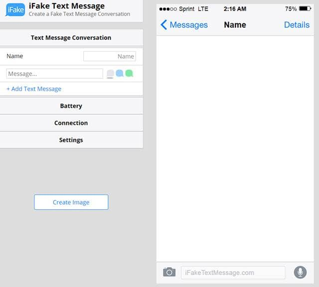 iFake Text Message