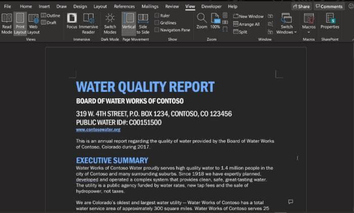 Microsoft Word Insider Build obtiene un modo oscuro completo