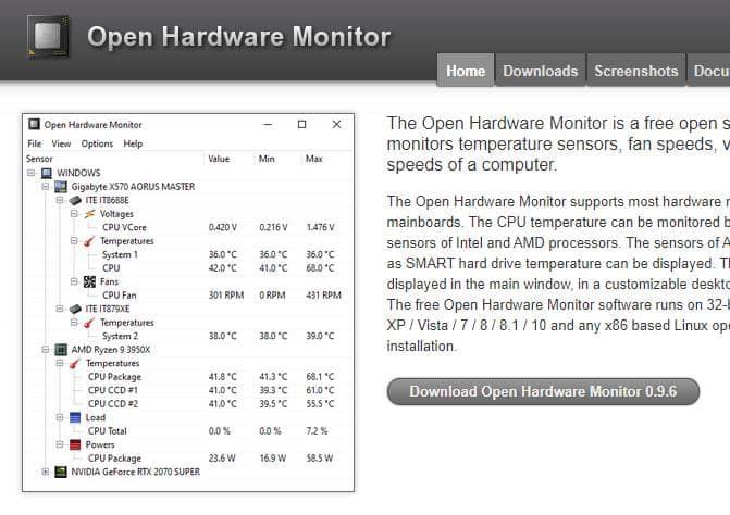 Monitor de hardware abierto