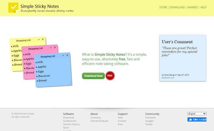 Notas adhesivas simples