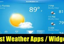 10 Best Weather Apps / Weather Widgets for Android
