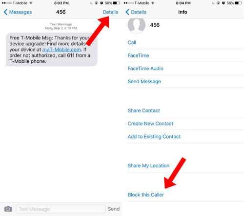 Block caller on iPhone