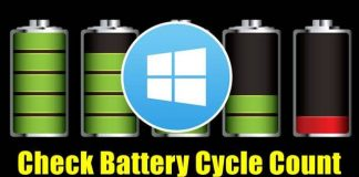Check Battery Cycle Count in Windows 10 Laptop