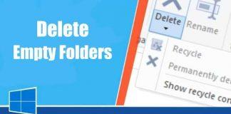 Delete empty folders in Windows 10