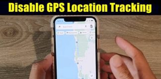 Disable GPS Location Tracking on iPhone