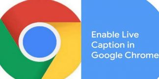 Enable Live Caption for Video