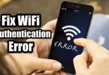 Fix Wifi authentication error