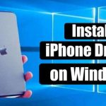 Install iPhone drivers on Windows 10