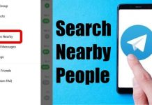 Search Nearby People on Telegram
