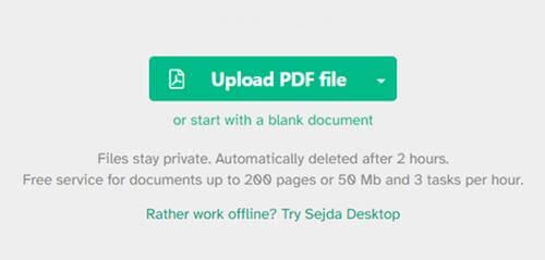 Sejda PDF Editor