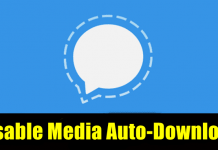 How to disable media auto-download in Signal
