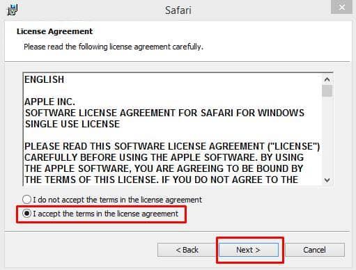 Instalar el navegador Safari en Windows 10