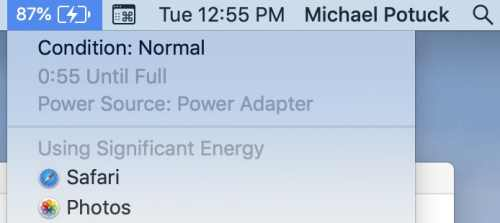 Check Macbook Battery health