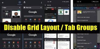 How to Disable Grid Layout / Tab Groups in Chrome for Android
