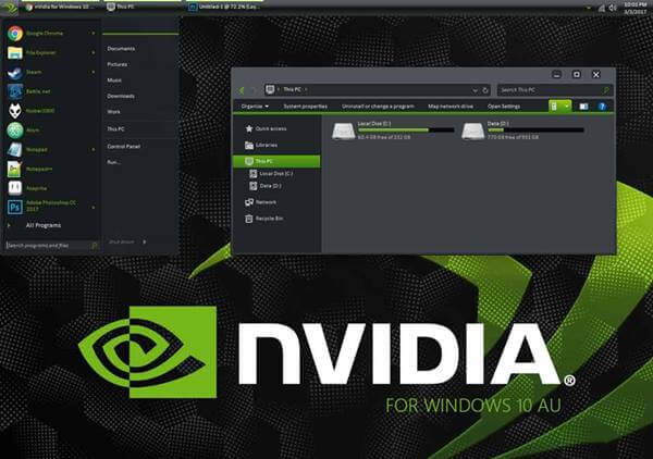 Nvidia Theme for Windows 10