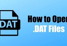 How to open .dat files