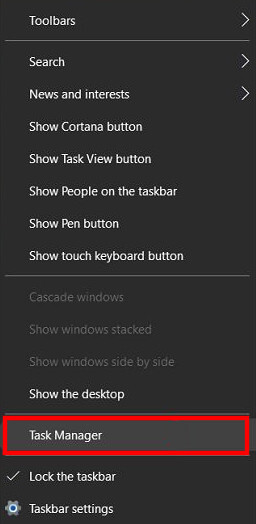 Open your Task Manager