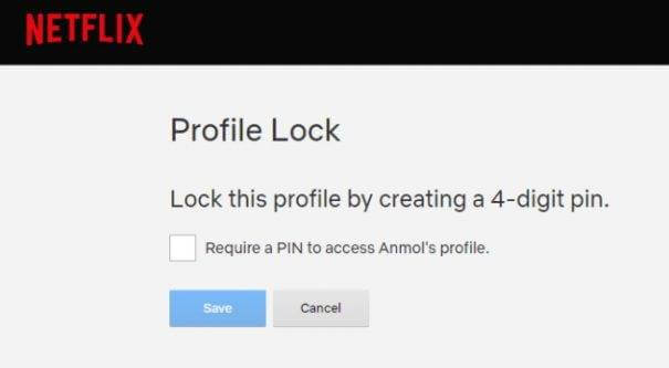 Lock Your Netflix Profile Using a PIN Code